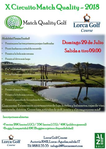 X CIRCUITO MATCH QUALITY 2018. LORCA GOLF COURSE