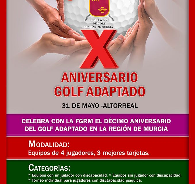 Abierta la inscripción Torneo X Aniversario Golf Adaptado